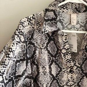 Snake Skin Oversized Top